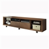 Manhattan Comfort Cabrini TV Stand 2.2 in Nut Brown