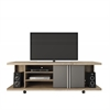 5- Shelf Carnegie TV Stand in Nature and Metallic Onyx