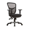 Manhattan Comfort Governor Executive Mesh High-Back Adjustable Office Chair in Black