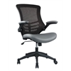 Manhattan Comfort Intrepid High-back  Office Chair in Coffee and Grey- Set of 2