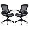 Manhattan Comfort Intrepid High-back  Office Chair in Black- Set of 2