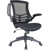 Manhattan Comfort Lenox Mesh Adjustable Office Chair in Black