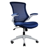 Manhattan Comfort Lenox Mesh Adjustable Office Chair in Royal Blue- Set of 2