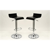 Manhattan Comfort Practical Ludlow Barstool with Height Adjustability in Black -Set of 2