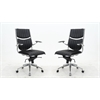 Manhattan Comfort Ergonomic High Back Verdi Office Chair in Black - Set of 2