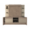 Manhattan Comfort 2- Shelf Morning Side Entertainment Center in Nature and Nude/ Pro Touch