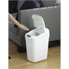NINE STARS MOTION SENSOR TRASH CAN, 14.6 X 10.4 X 23.3