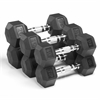 XMark Fitness  Premium Quality, Rubber Coated Hex Dumbbells are Built Tough, Built to Last XM-3301-1020-F