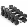 Fitness Premium Quality, Rubber Coated Hex Dumbbells are Built Tough, Built to Last XM-3301-200S