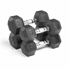 XMark Fitness  Premium Quality, Rubber Coated Hex Dumbbells are Built Tough, Built to Last XM-3301-2025-D