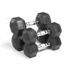 XMark Fitness Premium Quality, Rubber Coated Hex Dumbbells are Built Tough, Built to Last XM-3301-2030-E