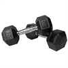 XMark Pair of 20 lb. Rubber Hex Dumbbells XM-3301-20-P