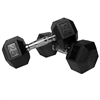 Pair of 25 lb. Rubber Hex Dumbbells XM-3301-25-P