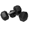 XMark Pair of 50 lb. Rubber Hex Dumbbells XM-3301-50-P