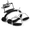 Fitness Cable Machine Attachment Package with Single Grip Handles, Chinning Triangle, and Tricep Rope XM-3705