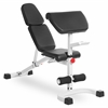 FID Flat Incline Decline Weight Bench with Preacher Curl XM-4417-WHITE