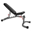 Adjustable FID Weight Bench, 11-Gauge, 1500 lb. Capacity, 7 Back Pad Positions from Decline to Full Military Press Position, Ergonomic 3 Position Adjustable Seat  XM-7472