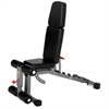 Adjustable FID Ab Combo Weight Bench, 11-Gauge Steel Construction, 1500 lb. Weight Capacity, 7 Position Ladder Back Adjustments, and Six Position Adjustable Seat XM-7629