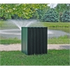 Frog Furnishings 55 Gal. Green Heavy Duty Square Receptacle