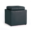 MEDIUM OTTOMAN W/FLIP OVER TRAY - BLACK H16""