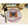 """FANMATS Mercer Baseball Mat 27"""" diameter"""