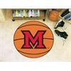 "FANMATS MiamiOhio Basketball Mat 27"" diameter"