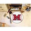 "FANMATS MiamiOhio Baseball Mat 27"" diameter"