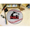 "FANMATS Northern Illinois Baseball Mat 27"" diameter"