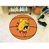 """FANMATS Ferris State Basketball Mat 26"""" diameter"""
