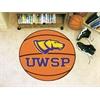 """FANMATS Wisconsin-Stevens Point Basketball Mat 27"""" diameter"""