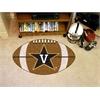 """FANMATS Vanderbilt Football Rug 20.5""""x32.5"""""""