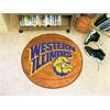 "FANMATS Western Illinois Basketball Mat 27"" diameter"