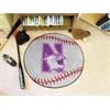 "FANMATS Northwestern Baseball Mat 27"" diameter"