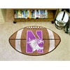 "FANMATS Northwestern Football Rug 20.5""x32.5"""