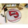 """FANMATS Western Kentucky Baseball Mat 27"""" diameter"""