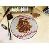 """FANMATS Minnesota-Duluth Baseball Mat 27"""" diameter"""