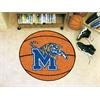 """FANMATS Memphis Basketball Mat 27"""" diameter"""