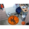 "FANMATS Wyoming Basketball Mat 27"" diameter"