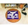"FANMATS NYU Basketball Mat 27"" diameter"