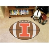 "FANMATS Illinois Football Rug 20.5""x32.5"""