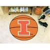 "FANMATS Illinois Basketball Mat 27"" diameter"