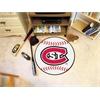 """FANMATS St. Cloud State Baseball Mat 27"""" diameter"""