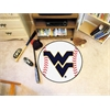 "FANMATS West Virginia Baseball Mat 27"" diameter"