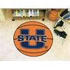"""FANMATS Utah State Basketball Mat 27"""" diameter"""