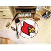 """FANMATS Louisville Baseball Mat 27"""" diameter"""