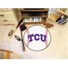 "FANMATS TCU Baseball Mat 27"" diameter"