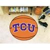 """FANMATS TCU Basketball Mat 27"""" diameter"""