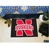 """FANMATS Nebraska Starter Rug 19""""x30"""""""