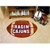 """FANMATS Louisiana-Lafayette Football Rug 20.5""""x32.5"""""""
