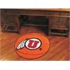 """FANMATS Utah Basketball Mat 27"""" diameter"""